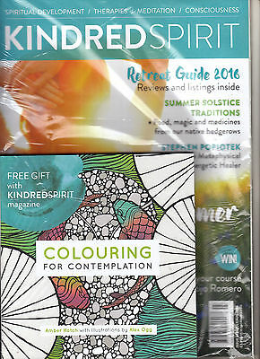 KINDRED SPIRIT Magazine #144 07-08/2016 + COLOURING FOR CONTEMPLATION Book @NEW@