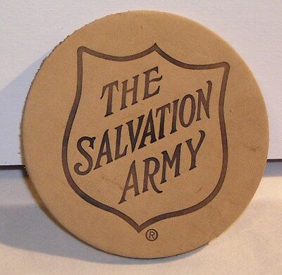 "Salvation Army - LEATHER ""RED SHIELD"" LOGO COASTER"