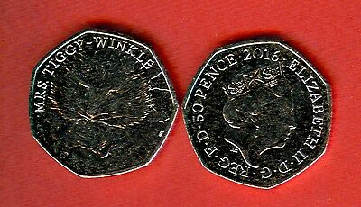 GREAT BRITAIN - 50 - 0.50 pence - issue 2016 - MRS TIGGY WINKLE - UNC