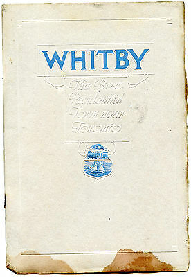 original vintage booklet pre ww11 on the town of whitby ontario illustrated