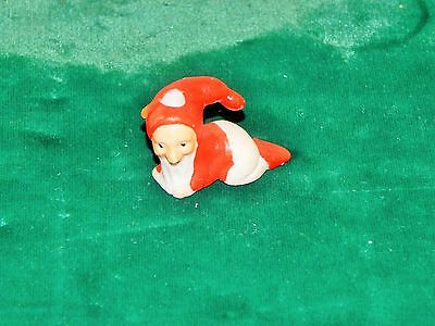 Antique German Bisque Miniature Crawling Baby Santa Or Elf With Candle Holder