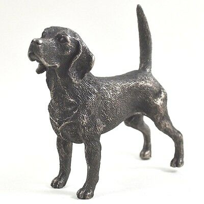 Beagle Cold Cast Bronze Figurine Sculpture Working  Dog Lovers Gift