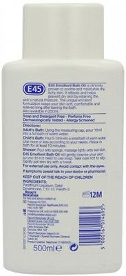 E45 Emollient Bath Oil - 500 Ml