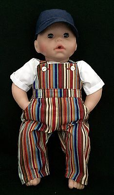 Dolls dungarees,shirt&cap (BOY).To fit doll 18in/46cm.Annabel's George,Baby Doll