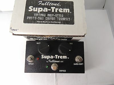 Fulltone St-1 Supa Trem Tremolo Effects Pedal Awesome Tone Free Shipping!!