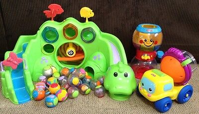 Fisher Price Roll A Rounds Lot ~ Drop n Roar Dinosaur, Gumball, Cement Truck