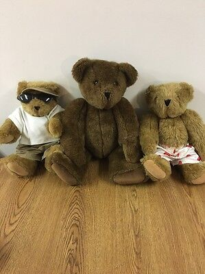 Authentic Vermont Jointed Teddy Bear Lot ** Nice**