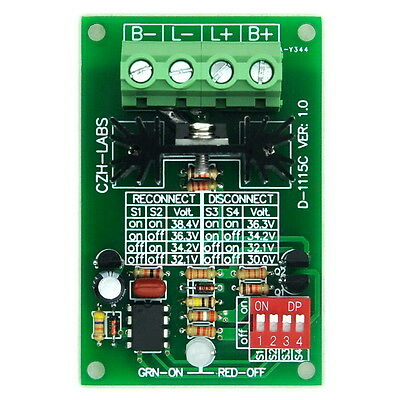 Low Voltage Disconnect Module LVD, 36V 30A, Protect/Prolong Battery Life.