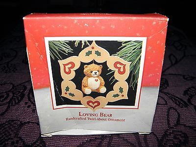 christmas tree decoration, loving bear 1988, collectable keepsake