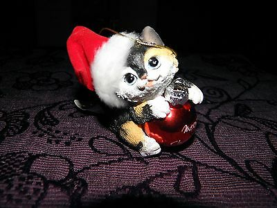 christmas tree decoration, meowy christmas cat, keepsake, collectbale