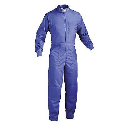 OMP Summer Mechanics Cotton / Polyester Overalls With Pockets In Blue - Size 62