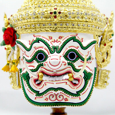 Khon Mask Demon Sahassadeja 24Carat Gold Leaf Collection Thailand Hand Made B-15