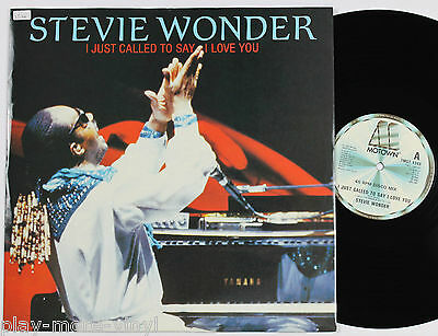 """STEVIE WONDER I Just Called To Say I Love You 12"""" UK 1984 Motown  plays EX!"""