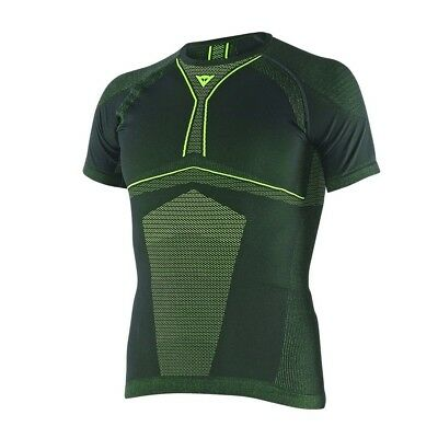 Shirt Thermal Moto Dainese D-Core Dry Tee SS Black/Fluo-Yellow XS/S