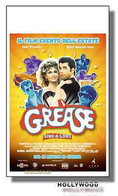 Poster GREASE  John Travolta Film Locandina Originale 35X70