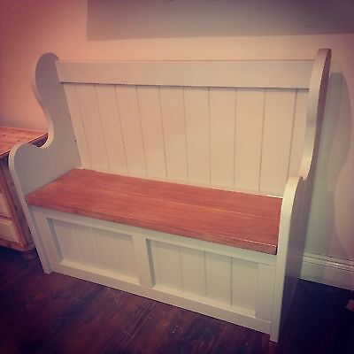 # Handmade bespoke wooden storage bench chair church pew settle FREE DELIVERY*