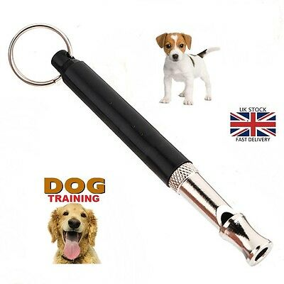 Adjustable Sound Dog Puppy Pet Training Whistle Silent Ultrasonic Key Chain 90mm