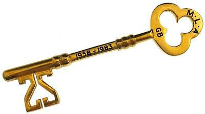 1983 Master Locksmiths Association 25 Years Commemorative Key - MLA - Scarce