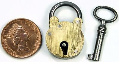 Antique Miniature Padlock with Key for Dog Collars - My Ref P270