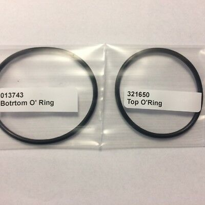 Replacement Top Fan O-Ring 321650 + Bottom O-Ring 013743 for Paslode IM360i