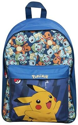 Pokemon Pikachu School Backpack Kids Junior Rucksack Straps Zipped With Pocket
