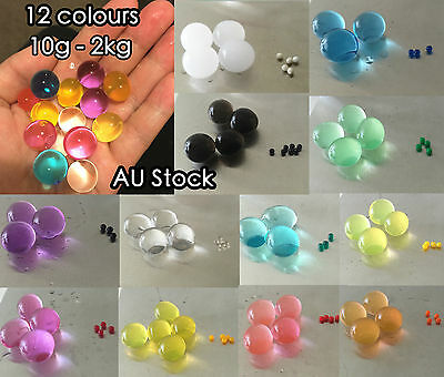 Crystal Soil Water Beads Jelly Ball For Vase Home Wedding Decoration 60g - 240g