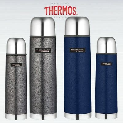 Thermos Thermocafe Vacuum Stainless Steel Flask Hammertone Grey