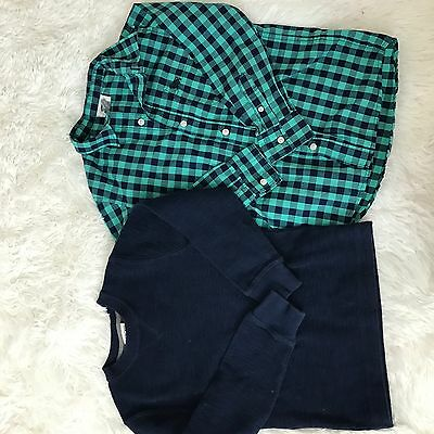 Lot of 2 Boys Shirt Size 6 / 7 Blue Button Down Old Navy Cherokee G51