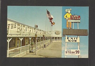 POSTCARD:  BIG TEXAN STEAK RANCH RESTAURANT on I-40 EAST, in AMARILLO, TEXAS