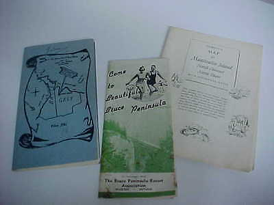 nice lot of 3 great colourful maps of bruce peninsula grey & bruce manitoulin