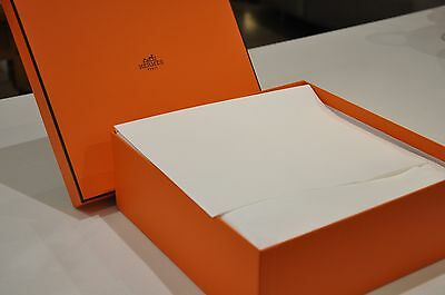 "Hermès Paris Box (10"" x 10"") Very Good Condition with Ribbon"