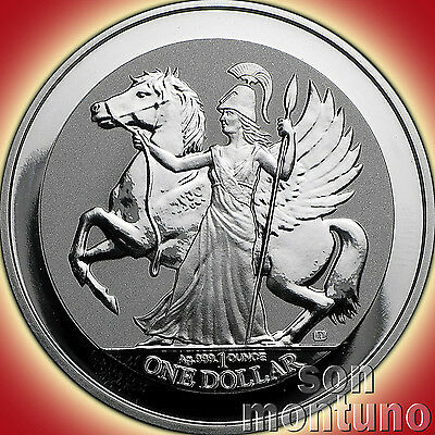 2017 PEGASUS - 1 oz .999 Silver Reverse Proof Bullion $1 Coin in AIRTITE CAPSULE