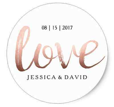 24x Personalised Stickers - Wedding Bridal Shower Thank You Stickers Favour