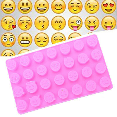 Emoji Funny Face DIY Silicone For Cake Chocolate Sugar Candy Soap Baking Mould
