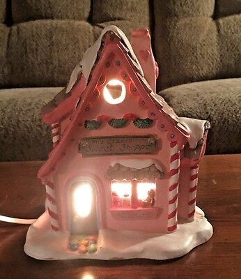 """Vintage Heath In Crafts Completed  Christmas Village  """"Bakery Shoppe  """""""