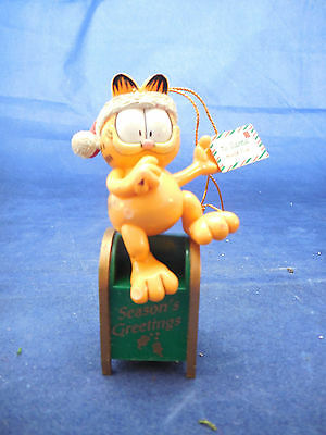 Garfield on mail box ornament 3 1/2""