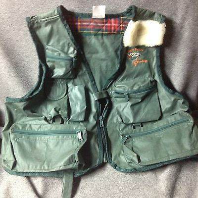 Salmo Salar All Green Fly Fishing Jacket, Vest Gear, Large