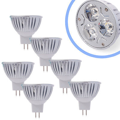 6X Spotlight Lámpara LED MR16 9W 3x3W Base calienta bulbo blanco 12V LD279A