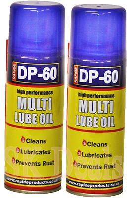 2 x Multi-Lube Oil Spray Lubricant Cleans Rust Protection 200ml Car Bike DIY