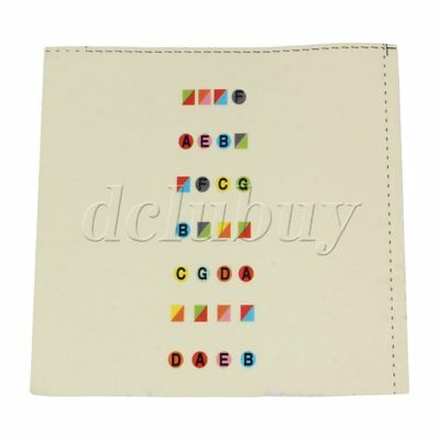 Colorful Plastic Paper Fretboard Note Sticker for Learning 4/4 Violin