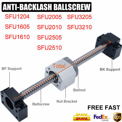 Rolled Ballscrew SFU1204 1605 1610 2005 2010 2505 2510 3205 3210&Ballnut CNC Kit