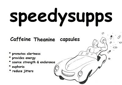 Caffeine 100mg  + Theanine 200mg VEGGIE CAPSULES NOT tablets  better absorbtion