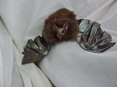 fairy Fantasy BAT sculpture pin brooch clip poseable wings OOAK Kate Sjoberg