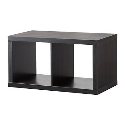 ikea kallax regal wandregal w rfel cube 42x39x42cm 42x42 cm schwarzbraun neu eur 27 90. Black Bedroom Furniture Sets. Home Design Ideas