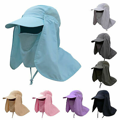 Quality Men Womens Legionnaire Sun Hat Neck Throat Flap Cover UV Protection