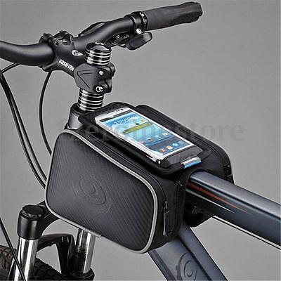 Bicycle Double Side Bag Mountain Bike Frame Front Tube Handlebar Saddle Pouch