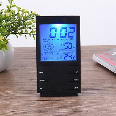 Digital Backlight Snooze Table Alarm Clock Thermometer Calendar Time LCD Display