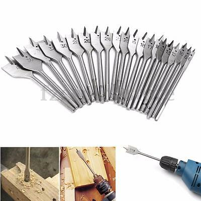 Machine Flat Spade Wood Drill Bit Set Hole Cutter Cutting Borer 6mm to 40mm
