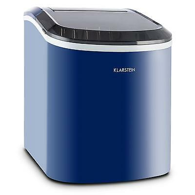 Klarstein Blue Counter Table Top Ice Cube Machine Maker Bar Drinks Cocktails