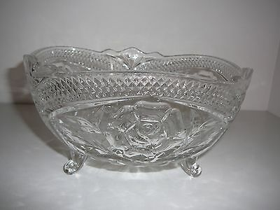 Vintage Crystal Footed Fruit bowl centrepiece Flowers decoration stunning